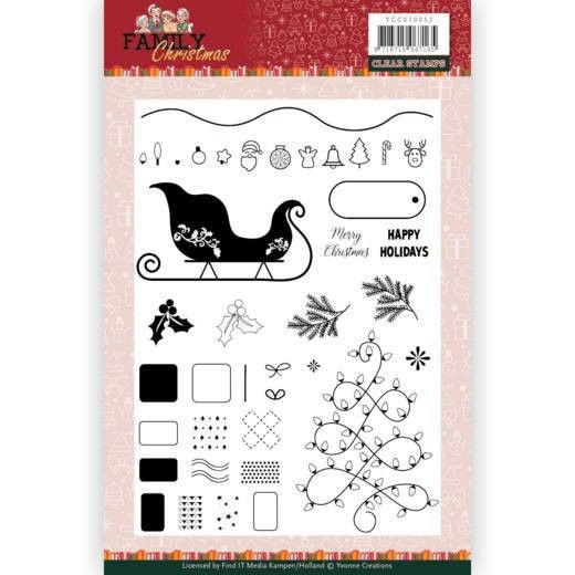 Clear Stamps - Yvonne Creations - Family Christmas