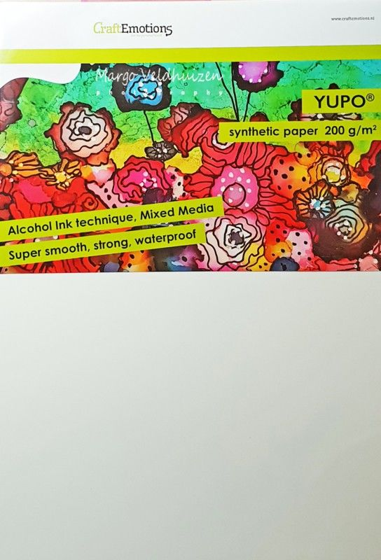 CraftEmotions Synthetisch papier - Yupo wit 10 vl A4 - FEB 200 gr (001286/3200)