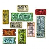 Sizzix Thinlits Die Set 6PK - Ticket Booth - Tim Holtz (04 -18) (662698)
