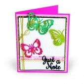 Sizzix Thinlits Die Set 6PK w/Text. Impre. Just a Note Butterflies - Courtney Chilson (03-18) (662753)