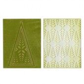 1 ST (2 ST)  Textured Impr. Emb. Folders Winter Leaves 658627 Paula Pascual