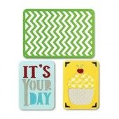 """Sizzix® Thinlits"""" Die Set 3PK - Birthday #2 659748 Life Made Simple by Sizzix*"""