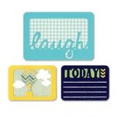 """Sizzix Thinlits"""" Die Set 3PK - Laugh Today 659751 Life Made Simple by Sizzix*"""