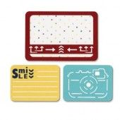 """Sizzix Thinlits"""" Die Set 3PK - Smile for the Camera 659755 Life Made Simple by Sizzix*"""
