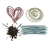Sizzix Thinlits Die Set 4PK - Scribbles & Splat Tim Holtz (660222)