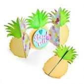 Sizzix Thinlits Die Set 10PK Card Pineapple Fold-a-Long - Jen Long (03-18) (662727)