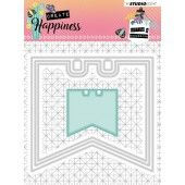 Studio Light Embossing Die 104x97 mm Create Happiness nr.153 (STENCILCR153)*