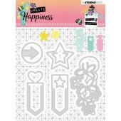 Studio Light Embossing Die 104x95 mm Create Happiness nr.155 (STENCILCR155)*