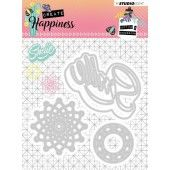 Studio Light Embossing Die 104x101 mm Create Happiness nr.157 (STENCILCR157)*