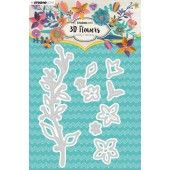 Studio Light Embossing Die Cut 3D Flower Dies nr. 181 STENCILSL181 (03-19)*