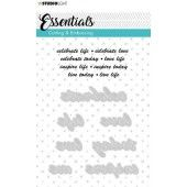 Studio Light Embossing Die Cut A6 Stencil Essentials nr.183 STENCILSL183 (06-19)