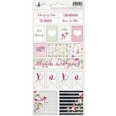 Piatek13 - Sticker sheet Hello Beautiful 02 P13-209 10,5x23 cm (04-19)