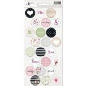 Piatek13 - Sticker sheet Hello Beautiful 03 P13-210 10,5x23 cm (04-19)