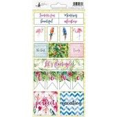 Piatek13 - Sticker sheet Let's flamingle 02 P13-279 10,5x23 cm (04-19)