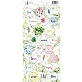 Piatek13 - Sticker sheet Let's flamingle 03 P13-280 10,5x23 cm (04-19)