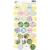 Piatek13 - Sticker sheet Party Let's flamingle 02 P13-291 10,5x23 cm (04-19)