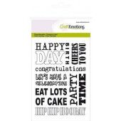 CraftEmotions clearstamps A6 - achtergrond party (130501/1131*)