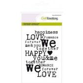 CraftEmotions clearstamps A6 - achtergrond Love (130501/1133*)