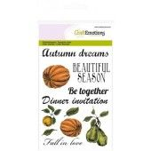 CraftEmotions clearstamps A6 - pompoen appel peer Autumn Woods (130501/1212*)