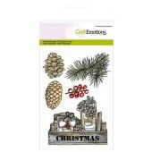CraftEmotions clearstamps A6 - kistje decoraties Home for Christmas (130501/1223*)
