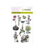 CraftEmotions clearstamps A6 - kruiden mand, kistje Life and Garden (130501/1235*)