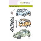CraftEmotions clearstamps A6 - Classic Cars 1 (130501/1279)*