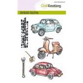 CraftEmotions clearstamps A6 - Classic Cars 2 (130501/1280)*