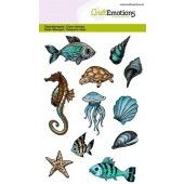 CraftEmotions clearstamps A6 - zeedieren (130501/1288)