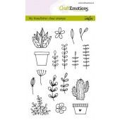CraftEmotions clearstamps A6 - handmade floral images Carla Kamphuis (130501/1298)*