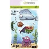 CraftEmotions clearstamps A6 - Ocean 2 Carla Creaties (130501/1622)