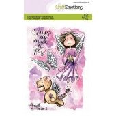 CraftEmotions clearstamps A6 - Angel & Bear 1 Carla Creaties (07-19) (130501/1644)