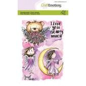 CraftEmotions clearstamps A6 - Angel & Bear 2 Carla Creaties (07-19) (130501/1645)