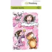 CraftEmotions clearstamps A6 - Angel & Bear 2 Carla Creaties (07-19) (130501/1646)
