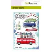 CraftEmotions clearstamps A6 - x-mass cars 2 Carla Creaties (08-19) (130501/1656)