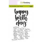 CraftEmotions clearstamps A6 - happy birth day (Eng) (130501/1807)