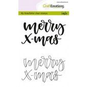 CraftEmotions clearstamps A6 - handletter - Merry xmas (Eng) (130501/1809)