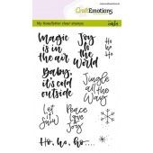 CraftEmotions clearstamps A6 - handletter - text xmas small (Eng) (130501/1812)