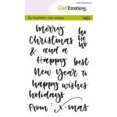CraftEmotions clearstamps A6 - handletter - words xmas small (Eng) (130501/1813)