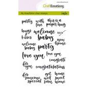 CraftEmotions clearstamps A6 - handletter - card moments (Eng) Carla Kamphuis (130501/1814)