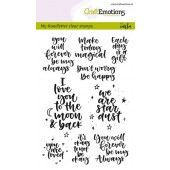 CraftEmotions clearstamps A6 - handletter - happy feelings (Eng)  Carla Kamphuis (130501/1815)