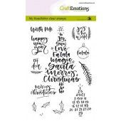 CraftEmotions clearstamps A6 - handletter - Christmas 1 (Eng) Carla Kamphuis (08-19) (130501/1818)