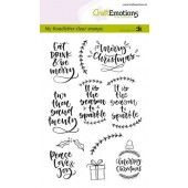 CraftEmotions clearstamps A6 - handletter - Christmas 2 (Eng) Carla Kamphuis (08-19) (130501/1819)*