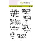 CraftEmotions clearstamps A6 - handletter - Quotes (DE) Carla Kamphuis (130501/1866)