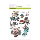 CraftEmotions clearstamps A5 - Christmas pets 1 (130501/3101)