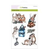 CraftEmotions clearstamps A5 - Christmas pets 3 (130501/3103)