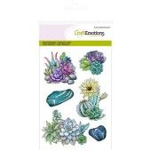 CraftEmotions clearstamps A6 - cactus vetplant Botanical Nature (130501/1255)