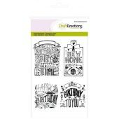 CraftEmotions clearstamps A6 - new home handlettering (Eng) (130501/1259)