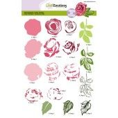 CraftEmotions clearstamps A5 - Roos (130501/2003)