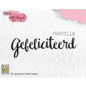 Nellies Choice Clearstempel Tekst (NL) - Hart. Gefeliciteerd 72x28mm (DTCS019)*
