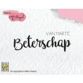 Nellies Choice Clearstempel Tekst (NL) - Van H. Beterschap 65x23mm (DTCS020)*